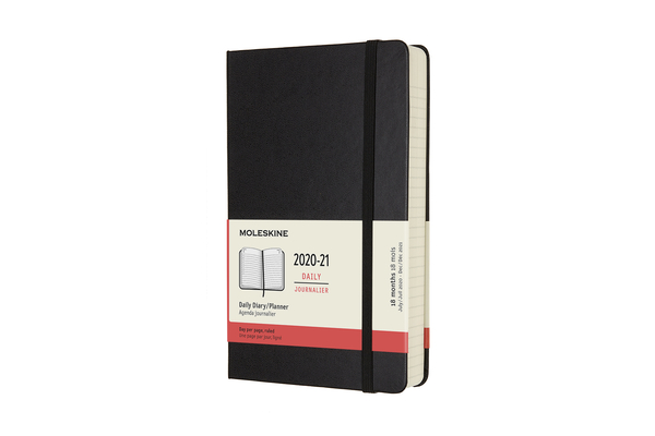Moleskine 2020-21 Daily Planner, 18M, Large, Black, Hard Cover (5 x 8.25) Cover Image