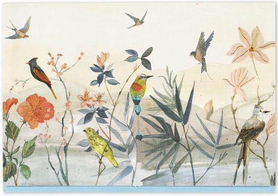 Note Card Bird Garden Cover Image