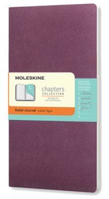 Moleskine Chapters Journal, Slim Medium, Ruled, Plum Purple, Soft Cover (3.75 x 7) Cover Image