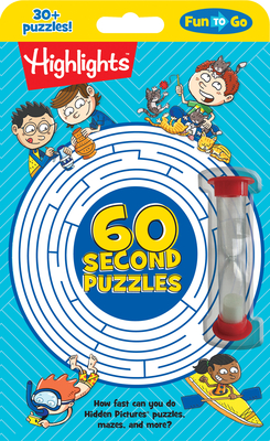 60-Second Puzzles (Highlights Fun to Go) Cover Image