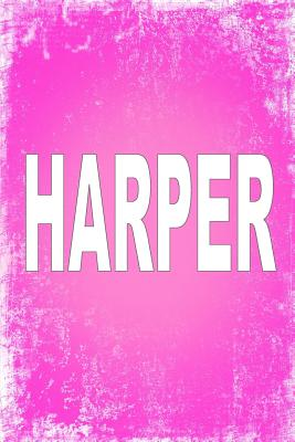 Harper: 100 Pages 6 X 9 Personalized Name on Journal Notebook Cover Image