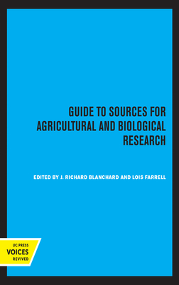 Guide to Sources for Agricultural and Biological Research cover