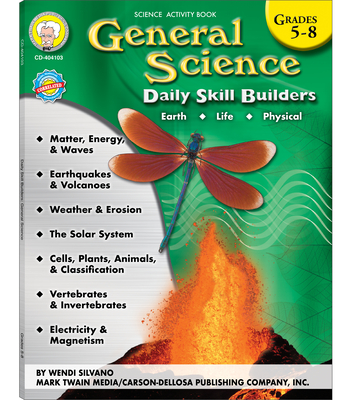 General Science, Grades 5 - 8 (Daily Skill Builders) Cover Image