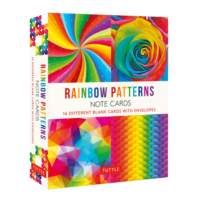 Rainbow Patterns, 16 Note Cards: 16 Different Blank Cards with 17 Patterned Envelopes Cover Image