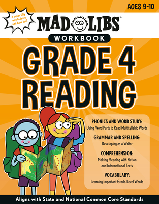 Mad Libs Workbook: Grade 4 Reading: World's Greatest Word Game (Mad Libs Workbooks) Cover Image