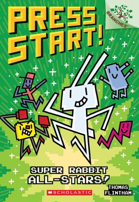Super Rabbit All-Stars!: A Branches Book (Press Start! #8) Cover Image
