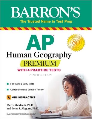 AP Human Geography Premium: With 4 Practice Tests (Barron's Test Prep) Cover Image