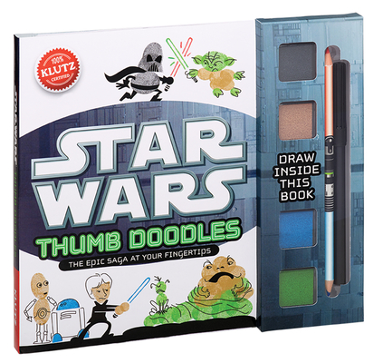Star Wars Thumb Doodles [With Dual-Tipped Colored Pencil and 4 Ink Pads and Black Marker] Cover Image
