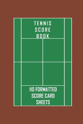 Tennis Score Book. 110 formatted score card sheets.: Portable 6 x 9 (bag sized) tennis score cards to record singles or doubles play. Includes fields Cover Image