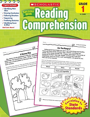 Scholastic Success With Reading Comprehension: Grade 1 Workbook Cover Image