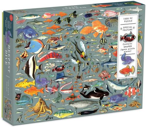 Deepest Dive 1000 Piece Puzzle with Shaped Pieces Cover Image