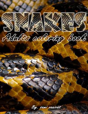 Snakes: Adults coloring book Cover Image