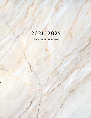 2021-2025 Five Year Planner: 60-Month Schedule Organizer 8.5 x 11 with Marble Cover (Volume 2) Cover Image