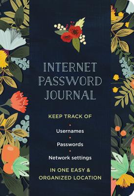 Internet Password Journal - Modern Floral Cover Image
