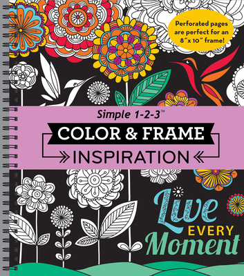 Color & Frame - Inspiration (Adult Coloring Book) Cover Image