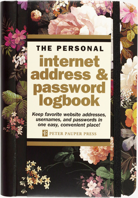 Midnight Floral Internet Address & Password Logbook Cover Image