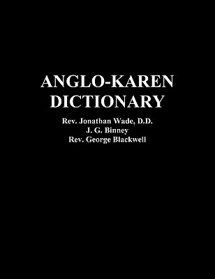 Anglo-Karen Dictionary Cover Image