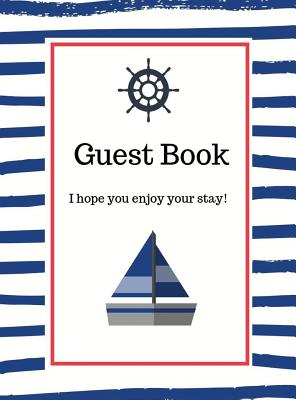 Nautical Guest Book Hardcover Cover Image