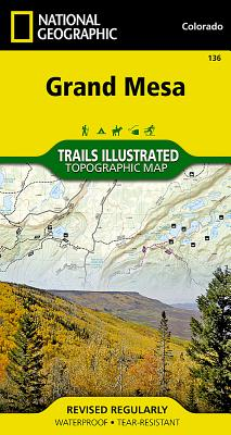 Grand Mesa (National Geographic Trails Illustrated Map #136) Cover Image
