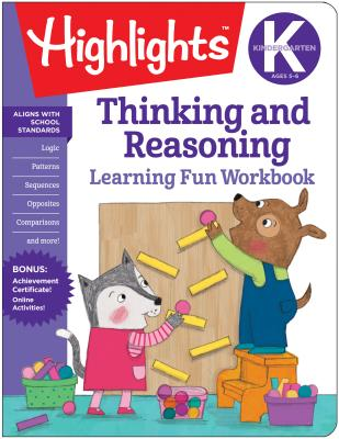 Cover for Kindergarten Thinking and Reasoning (Highlights Learning Fun Workbooks)