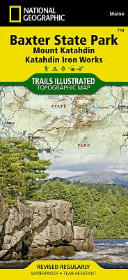 Baxter State Park [Mount Katahdin, Katahdin Iron Works] (National Geographic Trails Illustrated Map #754) Cover Image