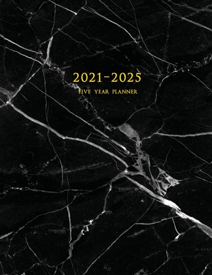 2021-2025 Five Year Planner: 60-Month Schedule Organizer 8.5 x 11 with Marble Cover (Volume 3) Cover Image