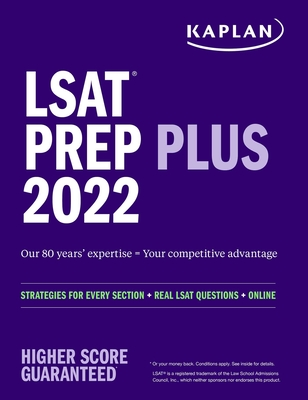 LSAT Prep Plus 2022: Strategies for Every Section + Real LSAT Questions + Online (Kaplan Test Prep) Cover Image