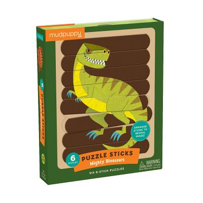 Mighty Dinosaurs Puzzle Sticks Cover Image