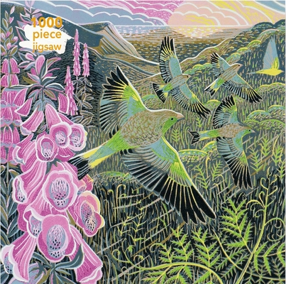Adult Jigsaw Puzzle Annie Soudain: Foxgloves and Finches: 1000-piece Jigsaw Puzzles Cover Image