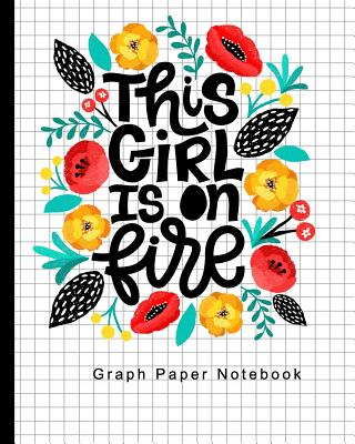 Graph Paper Notebook: Quad Ruled 4x4 squares per inch, Math and Science Composition Notebook for Girls (Notebooks for College Students), Flo Cover Image