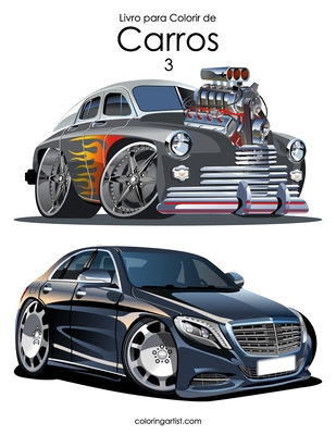 Livro para Colorir de Carros 3 Cover Image