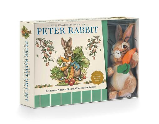 The Peter Rabbit Plush Gift Set: The Classic Edition Board Book + Plush Stuffed Animal Toy Rabbit Gift Set Cover Image