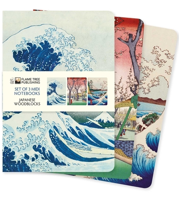 Japanese Woodblocks Midi Notebook Collection (Midi Notebook Collections) Cover Image