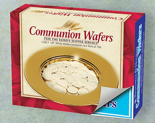 Communion Bread - Wafer: Round Unleavened Communion Wafers - Box of 1,000 wafers Cover Image