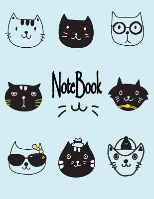 Notebook: Cute cats on green cover and Dot Graph Line Sketch pages, Extra large (8.5 x 11) inches, 110 pages, White paper, Sketc Cover Image