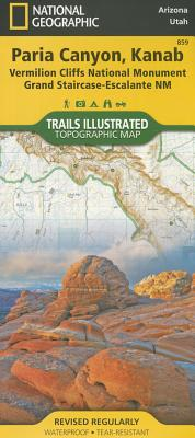 Paria Canyon, Kanab [Vermillion Cliffs National Monument, Grand Staircase-Escalante National Monument] (National Geographic Trails Illustrated Map #859) Cover Image
