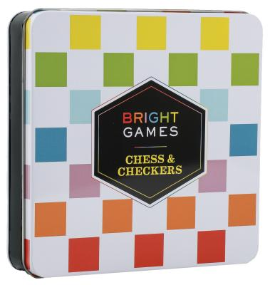 Bright Games Chess & Checkers: (Board Game Set, Family Game Night Games, Classic Board Games) Cover Image