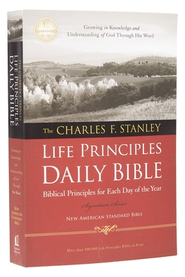 Charles F. Stanley Life Principles Daily Bible-NASB Cover Image