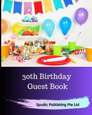 30th Birthday Guest Book Cover Image