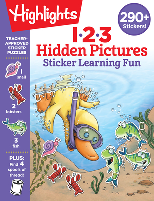 123 Hidden Pictures Sticker Learning Fun (Highlights Hidden Pictures Sticker Learning) Cover Image