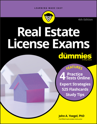 Real Estate License Exams for Dummies with Online Practice Tests Cover Image