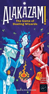 Alakazam! The Game of Dueling Wizards – Fast-Paced and Magical Card Game for Two Players – Great for Ages 6+ - Includes Two Fully Contained Game Cards – Travel-Ready Game Cards Cover Image