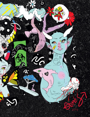 Grimes: Miss Information, a Coloring Book Cover Image