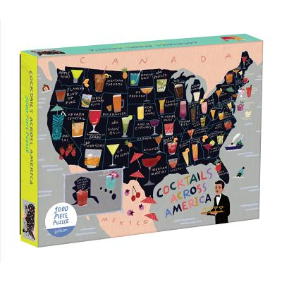 Cocktail Map of the USA 1000 Piece Puzzle Cover Image