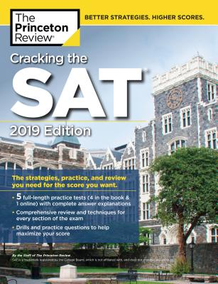 Cracking the SAT with 5 Practice Tests, 2019 Edition cover image