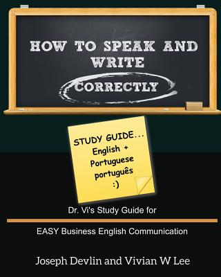 How to Speak and Write Correctly: Study Guide (English + Portuguese) Cover Image