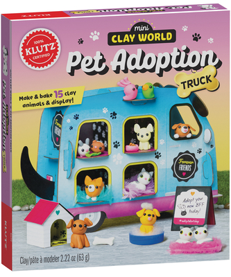 Mini Clay World Pet Adoption Truck: Make & Bake 15 Clay Animals & Display!