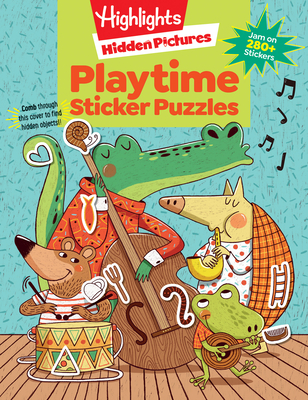 Playtime Puzzles (Highlights Sticker Hidden Pictures) Cover Image