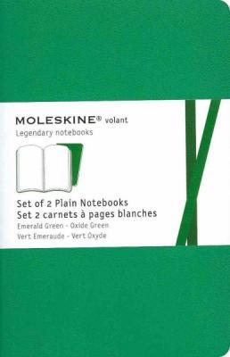 Moleskine Volant Notebook (Set of 2 ), Pocket, Plain, Emerald Green, Oxide Green, Soft Cover (3.5 x 5.5) Cover Image