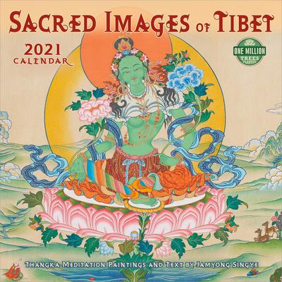 Sacred Images of Tibet 2021 Wall Calendar: Thangka Meditation Paintings Cover Image
